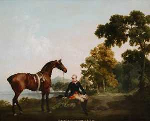 George Stubbs - 主 Clanbrassil 与 猎人 Mowbrary