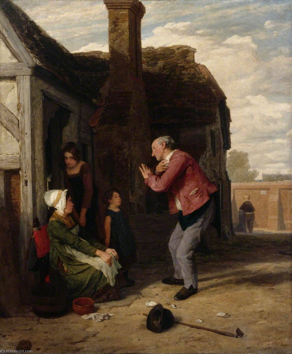 村 丑角 , 1816 通过 William Mulready The Younger (1786-1863, Ireland) | 畫再現 | WahooArt.com