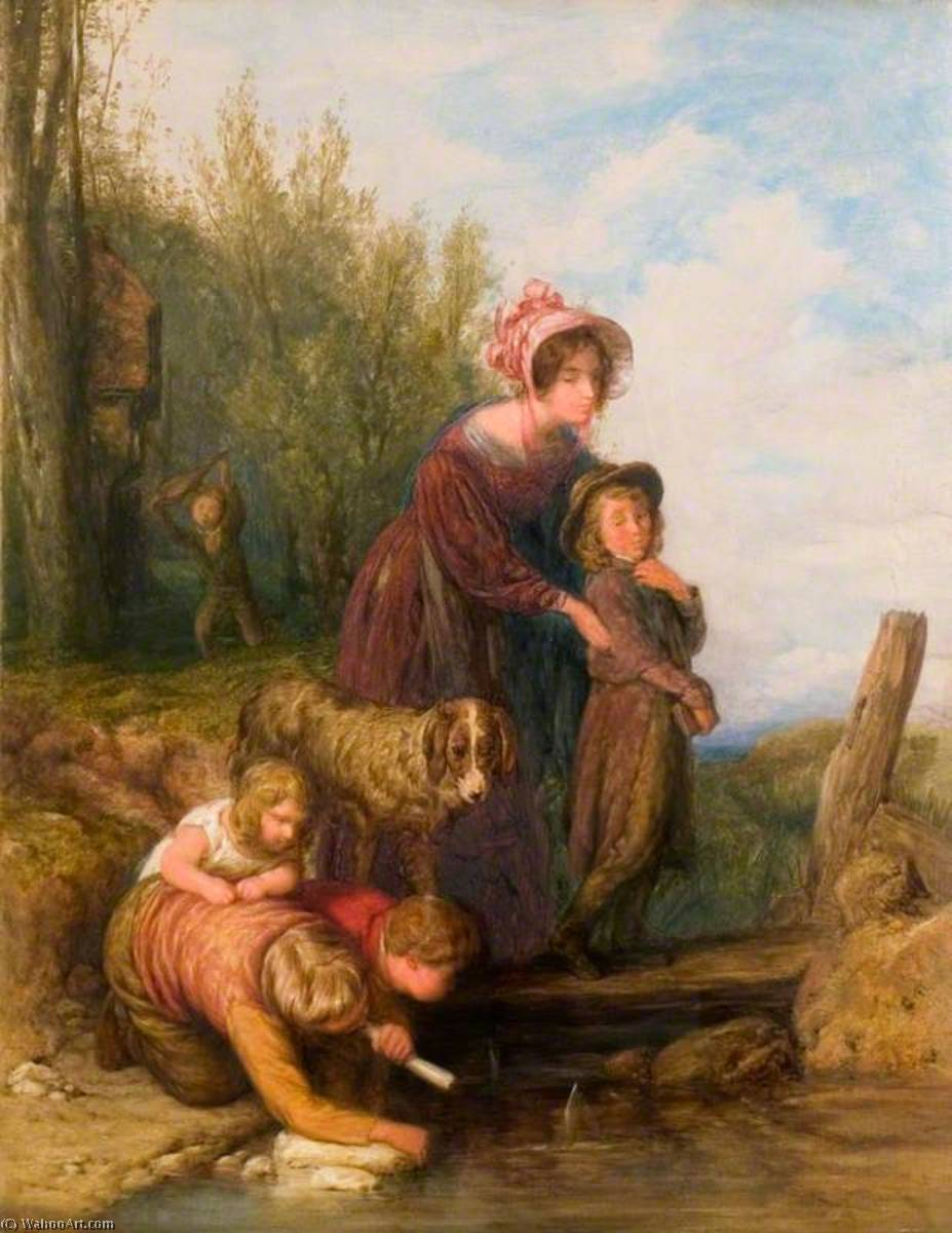 一个 帆船  匹配 , 1831 通过 William Mulready The Younger (1786-1863, Ireland) | 手工畫 | WahooArt.com