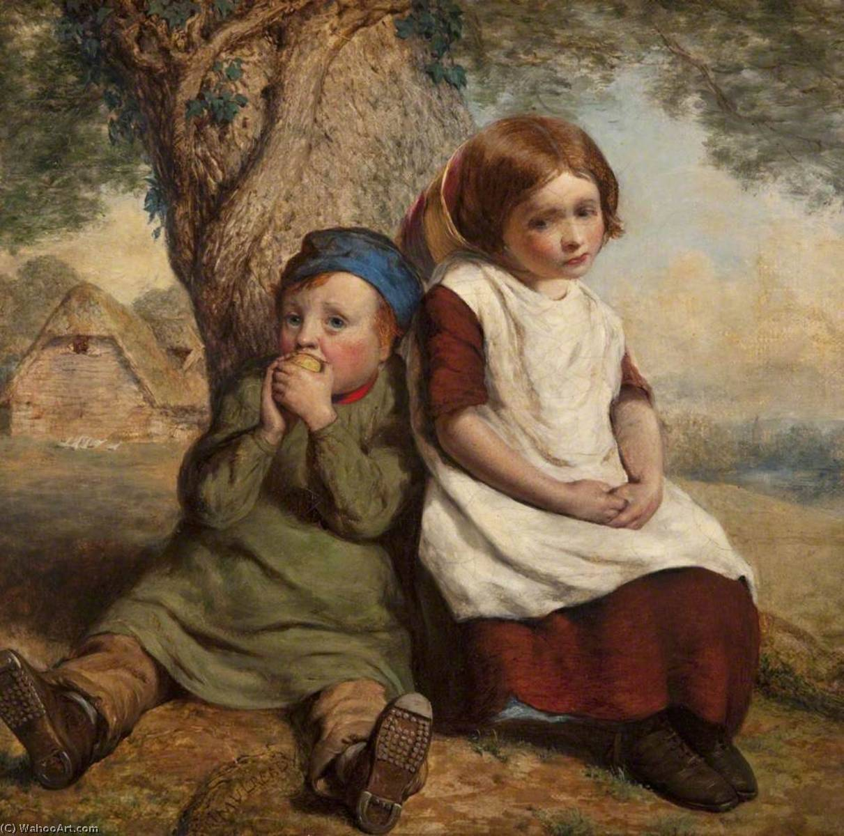 垄断者, 1843 通过 William Mulready The Younger (1786-1863, Ireland) | 幀畫冊專輯 | WahooArt.com