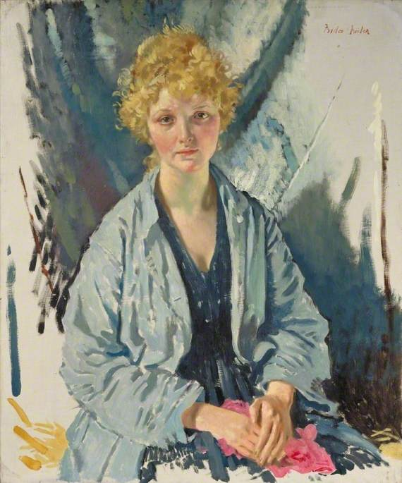 的 难民  一个 , 油画 通过 William Newenham Montague Orpen (1878-1931, Ireland)