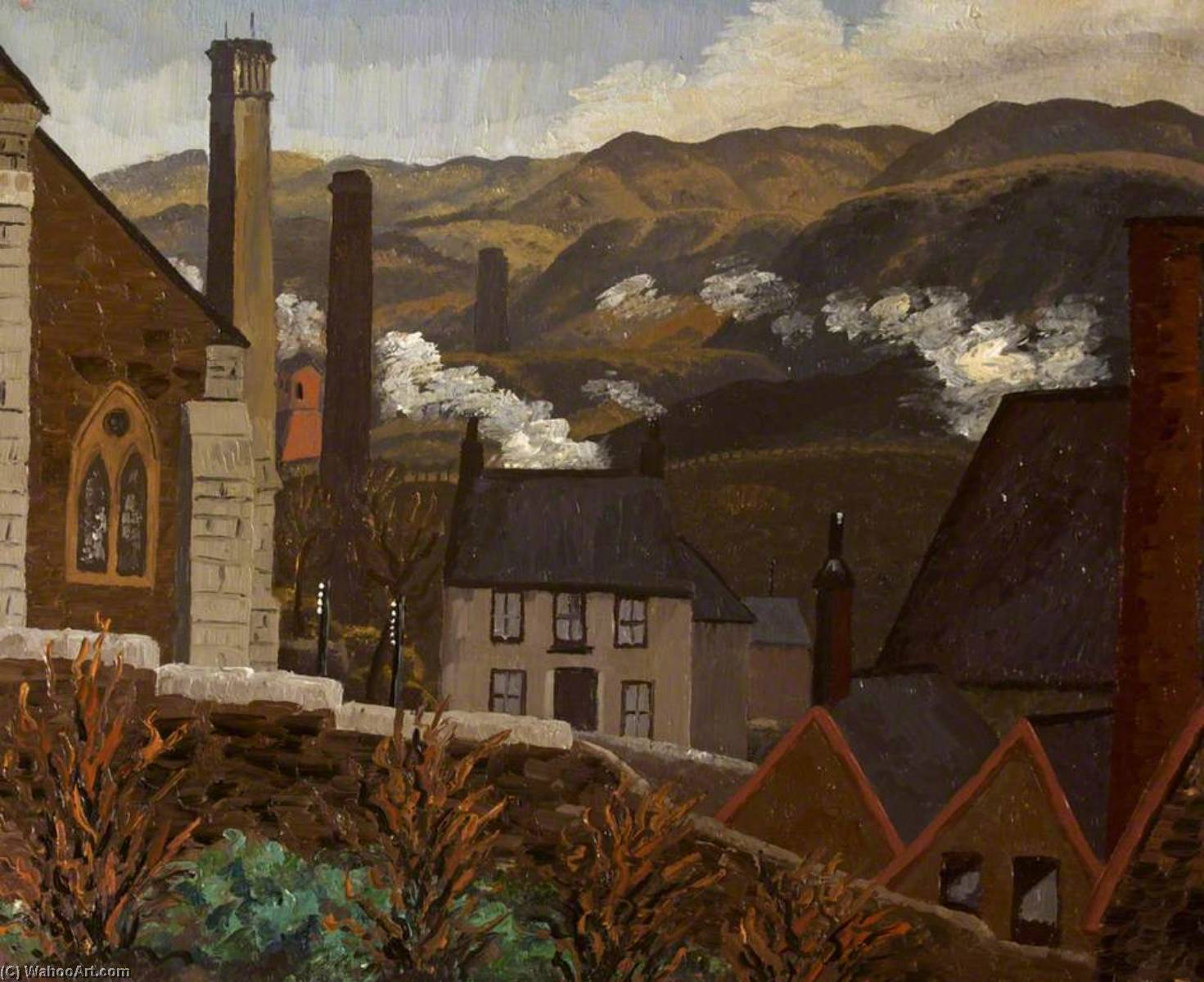道勒斯  从 煤渣 提示 , Caeharris, 1935 通过 Cedric Lockwood Morris (1889-1982, United Kingdom) | WahooArt.com