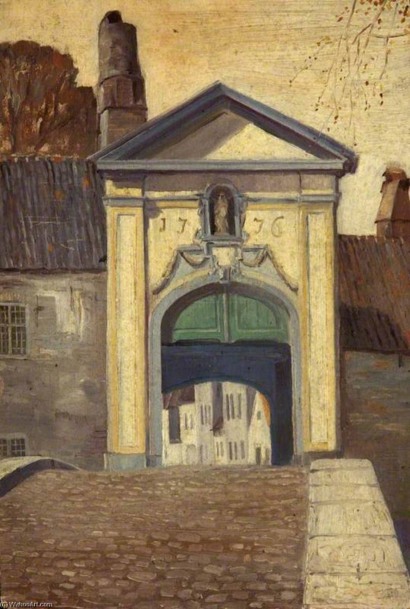 网关 到  的  距离beguinage  布鲁日  通过 Charles Paget Wade (1883-1956, United Kingdom) | 畫再現 | WahooArt.com