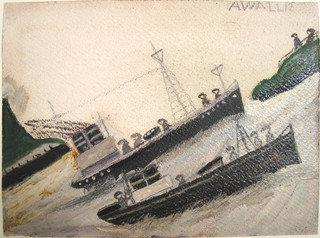 粗 大海  通过 Alfred Wallis (1855-1942, United Kingdom) | WahooArt.com