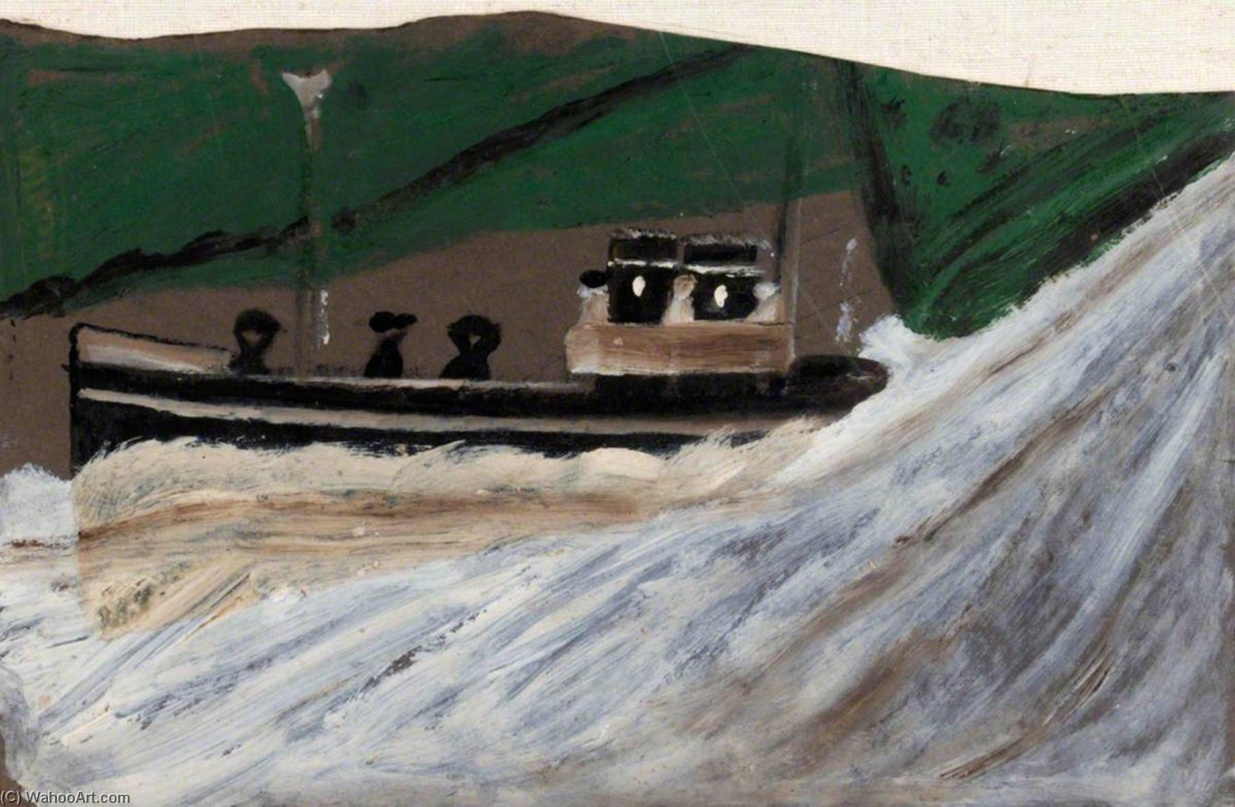 船 数字 , 1940 通过 Alfred Wallis (1855-1942, United Kingdom) | WahooArt.com