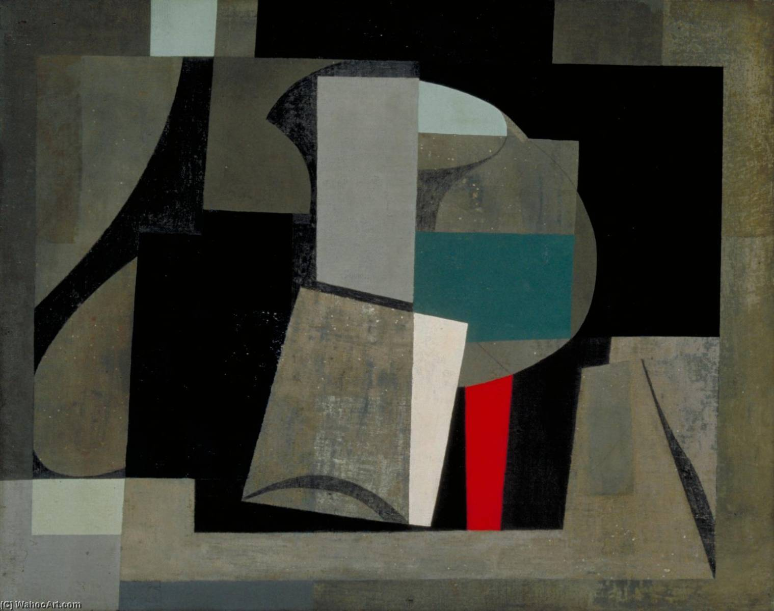 1934 6  绘画  仍  生命 , 1934 通过 Ben Nicholson (1894-1982, United Kingdom) | 幀打印 | WahooArt.com