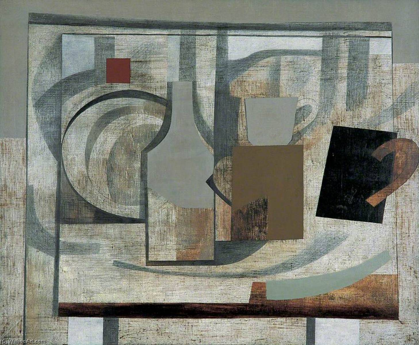 1932–40  仍  生命 , 1940 通过 Ben Nicholson (1894-1982, United Kingdom) | 畫再現 | WahooArt.com