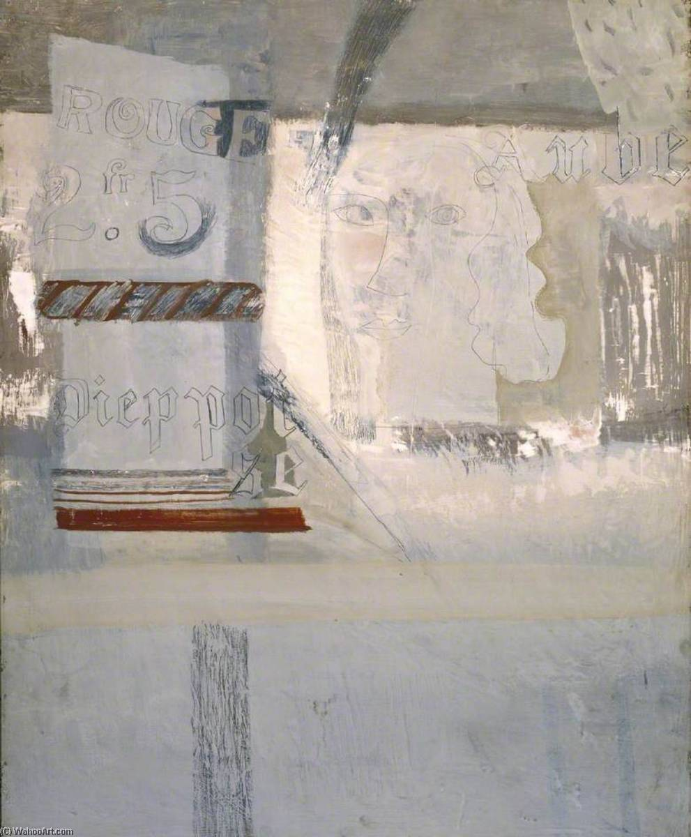 1932 ( Auberge酒店 德 啦 唯一 Dieppoise ), 笔 通过 Ben Nicholson (1894-1982, United Kingdom)
