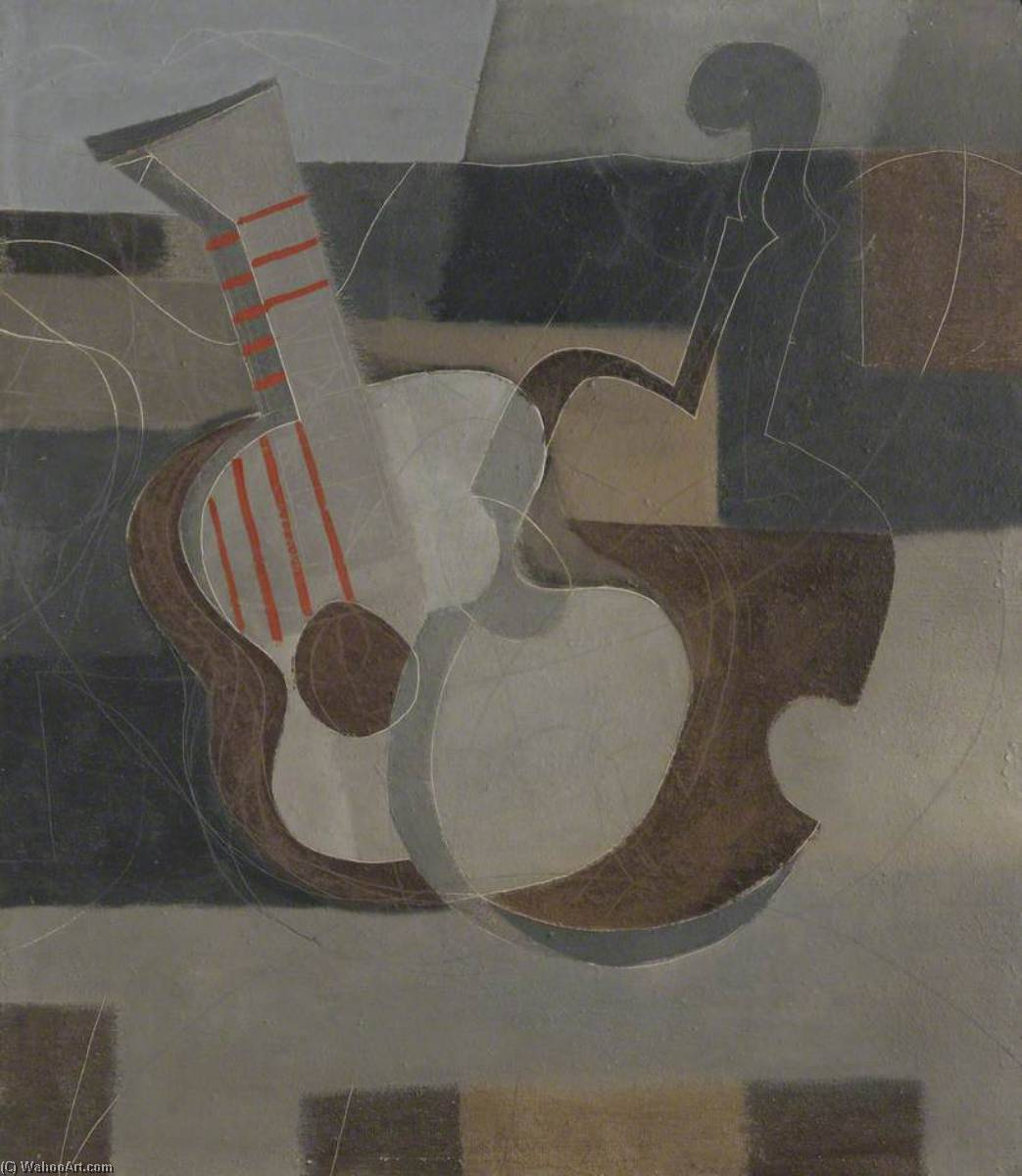 1932–33  音乐  仪器 , 油画 通过 Ben Nicholson (1894-1982, United Kingdom)