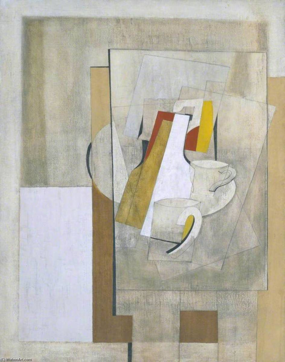 1945  仍  生命 , 油画 通过 Ben Nicholson (1894-1982, United Kingdom)
