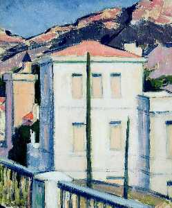 Francis Campbell Boileau Cadell - 白色 别墅  卡西斯