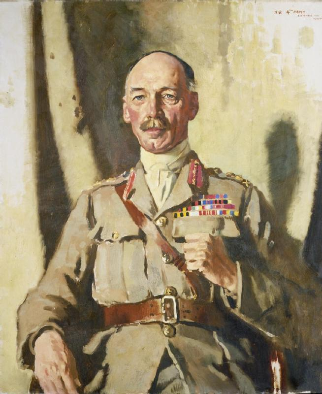 亨利·西摩爵士罗林森 ( 1864 1925 ) Bt , GCVO , KCB , KCMG, 油画 通过 William Newenham Montague Orpen (1878-1931, Ireland)