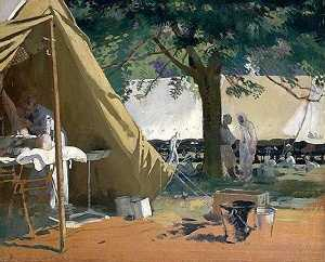 William Newenham Montague Orpen - 德语 生病 , 抓获 在 Messines酒店 ,  在 加拿大 医院