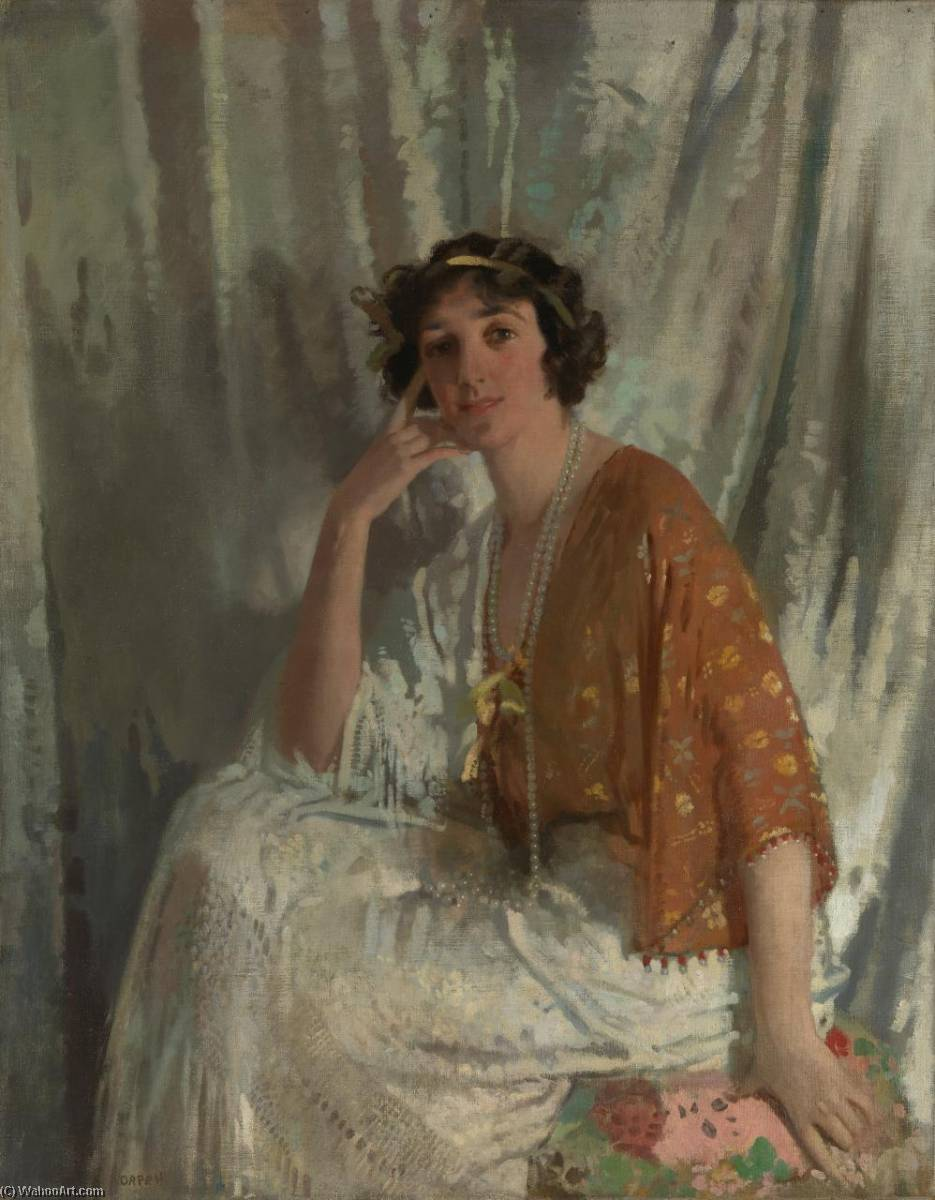 怀念 穆里尔  威尔逊 , 1910 通过 William Newenham Montague Orpen (1878-1931, Ireland) | WahooArt.com