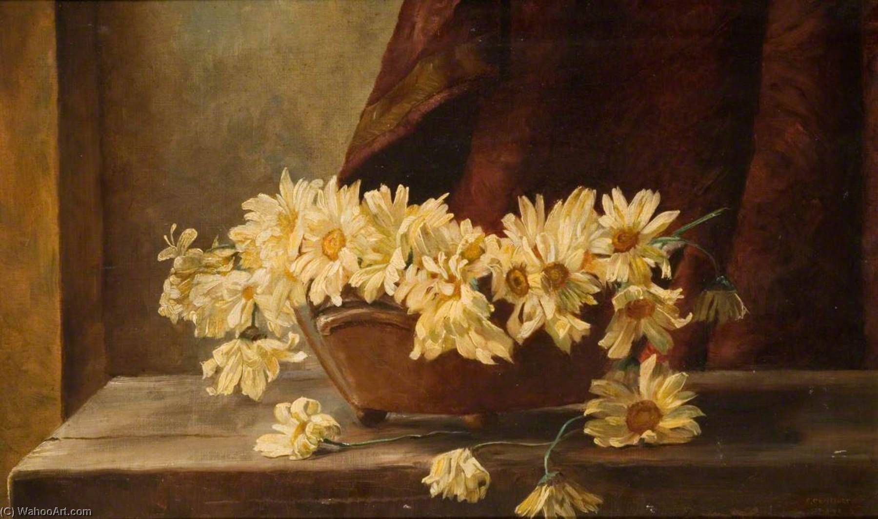 Marguerites, 油画 通过 George Cartlidge