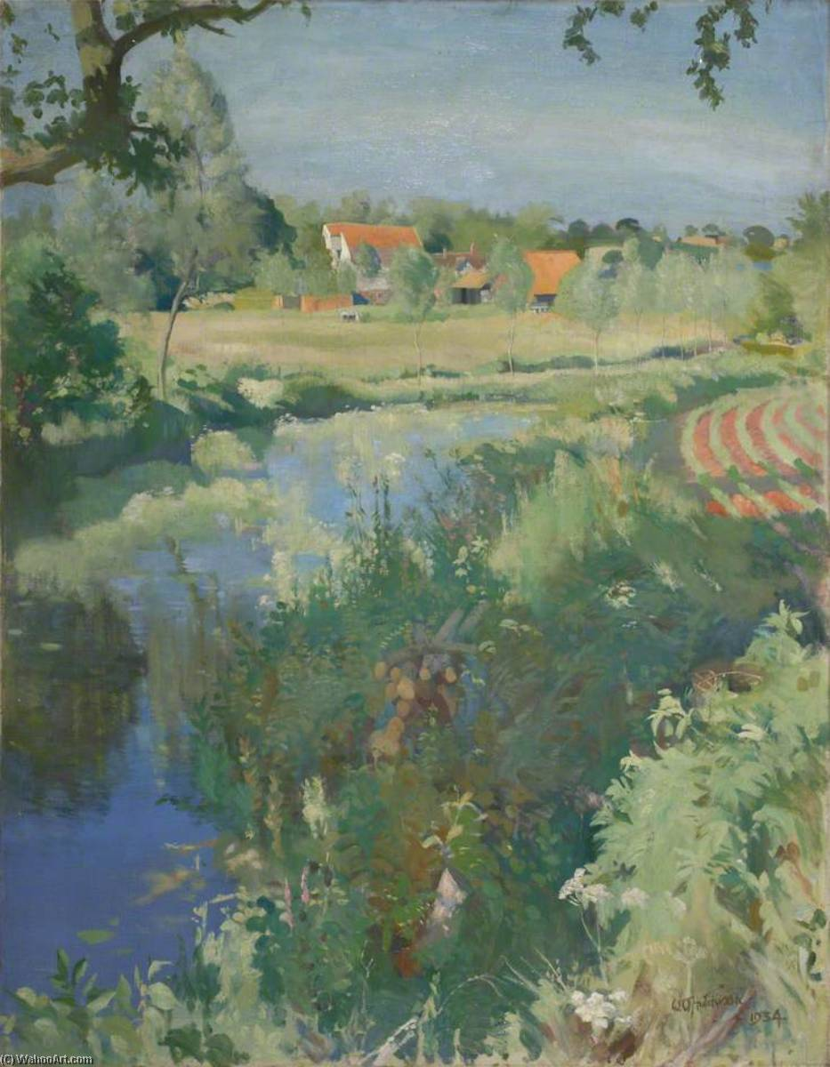 Letheringham 磨, 1934 通过 William Oliphant Hutchison | 手工畫 | WahooArt.com