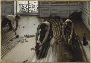 Gustave Caillebotte - 莱斯 RABOTEURS 德 实木复合地板