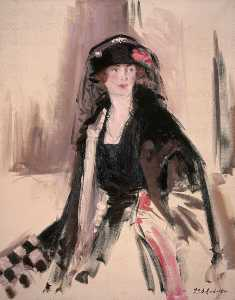 Francis Campbell Boileau Cadell - lavery夫人