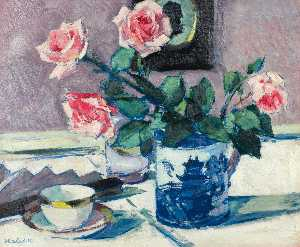 Francis Campbell Boileau Cadell -  粉红色 玫瑰