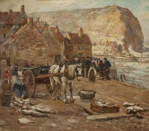 James William Booth - 鱼儿 销售 , Staithes