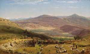 Thomas Worthington Whittredge - 中Tusculum和丰阿尔巴诺山,罗马剧场