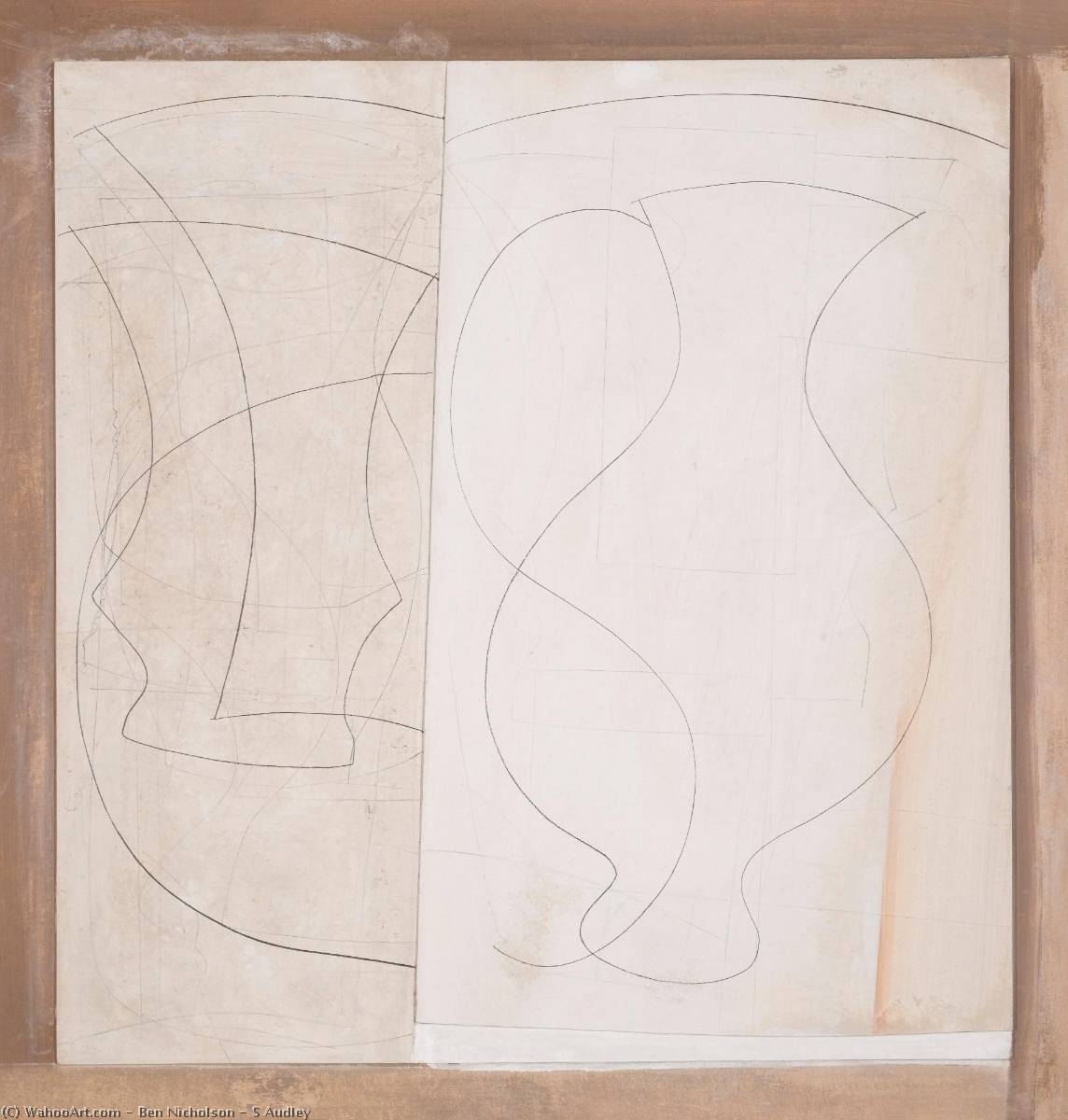 小号 奥德利 , 笔 通过 Ben Nicholson (1894-1982, United Kingdom)