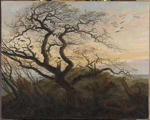 Caspar David Friedrich - L-ARBRE 奥克斯 CORBEAUX