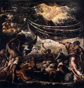 Jacopo Tintoretto - 奇迹 的  曼纳