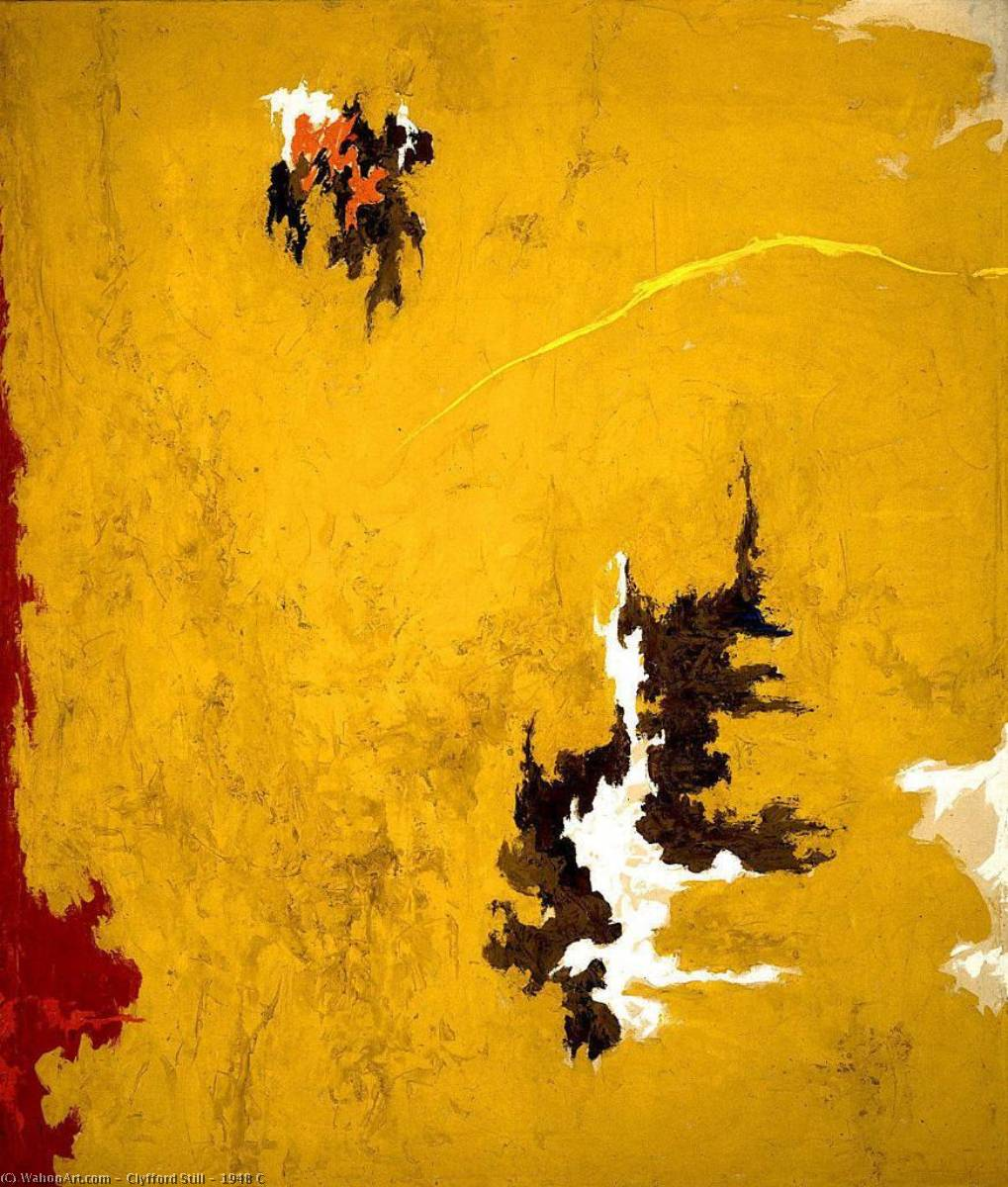 1948 C, 油画 通过 Clyfford Still (1904-1980, United States)