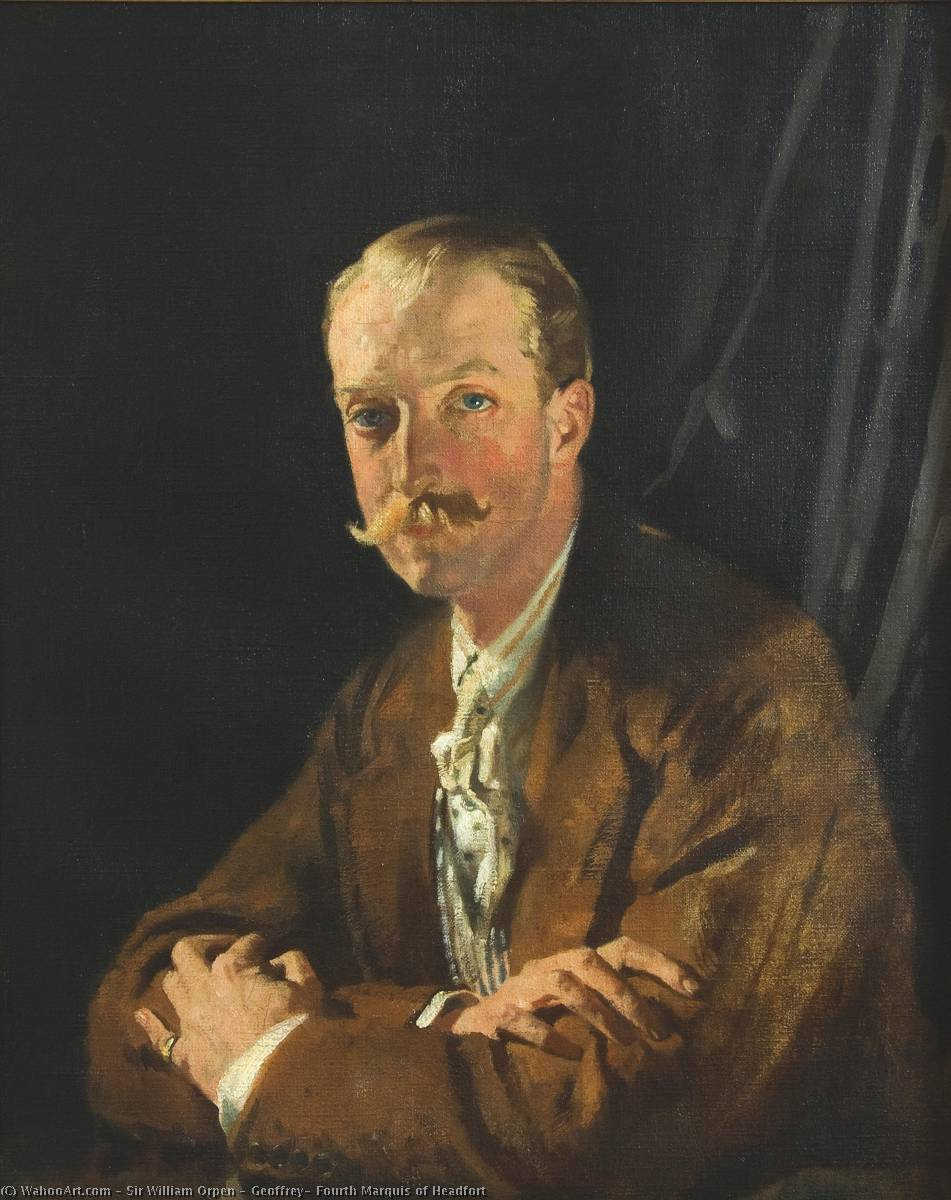 杰弗里 , 第四 侯爵 的 Headfort, 油画 通过 William Newenham Montague Orpen (1878-1931, Ireland)