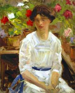 Francis Campbell Boileau Cadell -  女士 在  白
