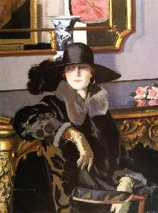 Francis Campbell Boileau Cadell -  女士 在  黑色